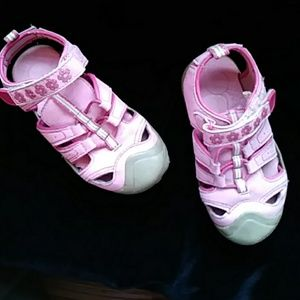 😁Buster Brown little girl's pink sandals- sz 10